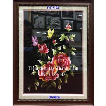 Tranh thêu hoa hồngOT 2174