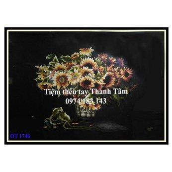 Tranh thêu hoa hướng dươngOT 1746