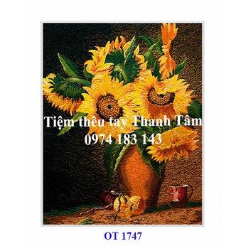 Tranh thêu hoa hướng dươngOT 1747