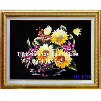 Tranh thêu hoa hướng dươngOT 1751