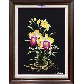Tranh thêu hoa lanOT 2066