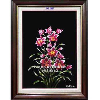 Tranh thêu hoa lanOT 2067