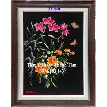 Tranh thêu hoa lanOT 2070