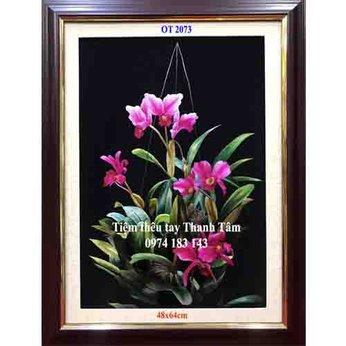 Tranh thêu hoa lanOT 2073