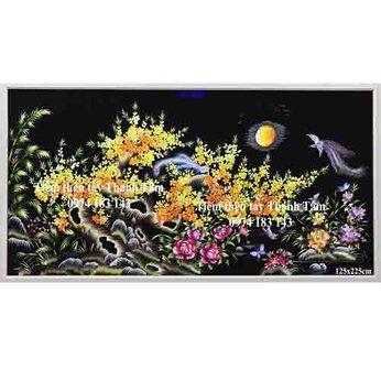 Tranh thêu hoa maiOT 2080