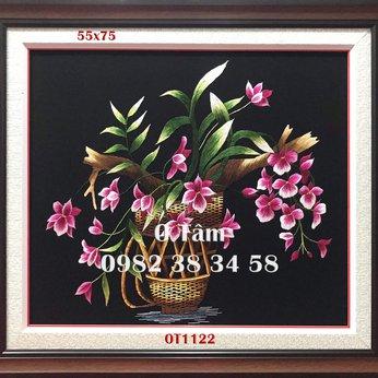 Tranh Thêu Hoa Lan OT1122
