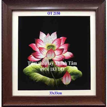 Tranh thêu hoa senOT 2150
