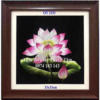 Tranh thêu hoa senOT 2151