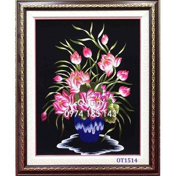 Tranh thêu hoa sen OT 1514