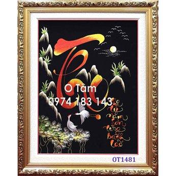 Tranh thêu mừng thọ OT 1481
