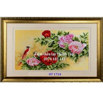 Tranh thêu tặng đám cưới OT 1724