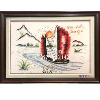 Tranh thêu thuận buồm xuôi gióOT 1559