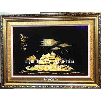 Tranh thêu thuận buồm xuôi gióOT 2010