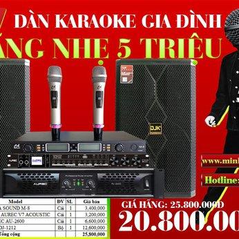 DÀN KARAOKE GIA ĐÌNH MT VIP 8