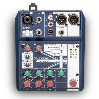 Mixer Soundcraft Notepad 5