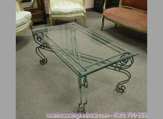 Bàn sofa đẹp bằng sắt uốn nghệ thuật
