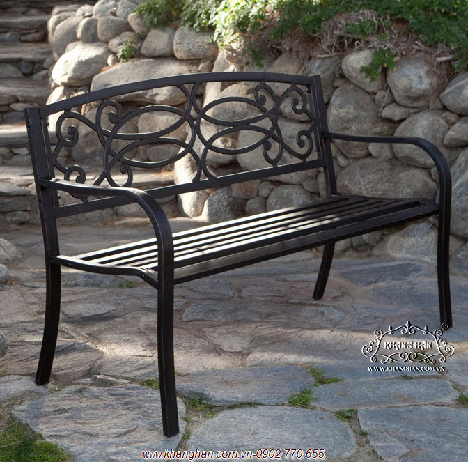 Ghế dài sân vườn cổ điển bằng sắt mỹ thuật