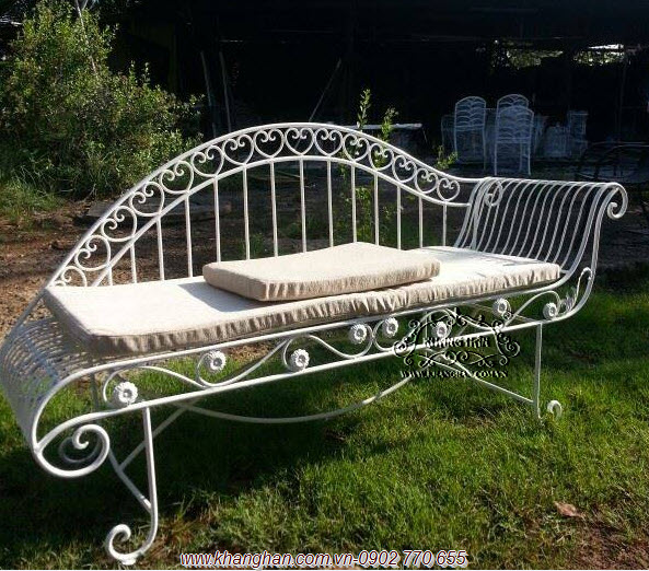 Ghế dài sắt mỹ thuật đẹp ấn tượng