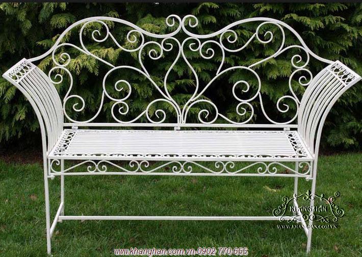 Ghế dài sắt rèn mỹ thuật đẹp