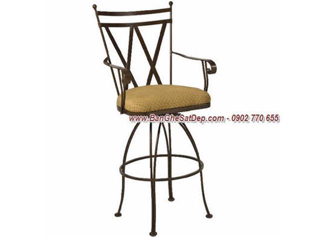 Ghế đẹp sắt nghệ thuật cho quầy Bar sành điệu