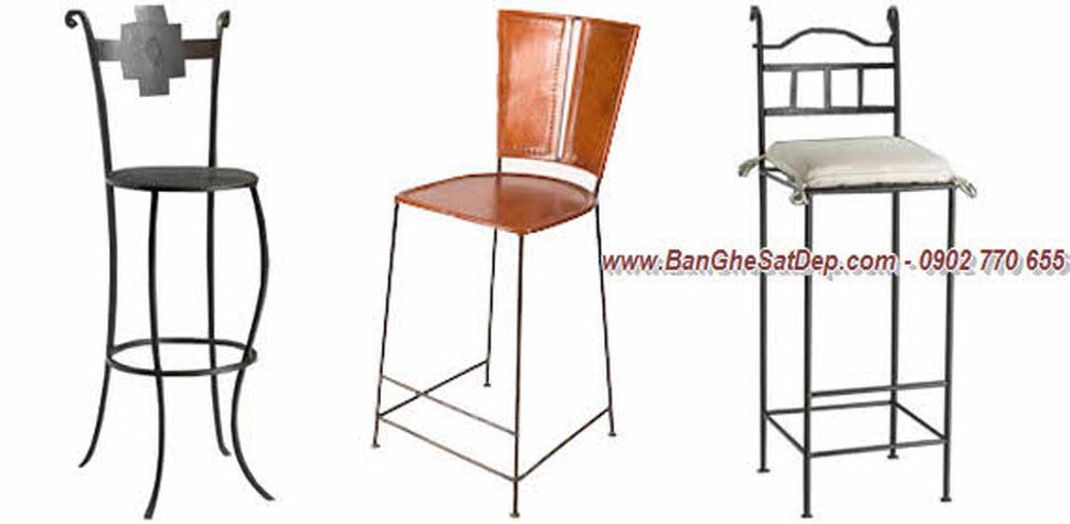 Ghế sắt nghệ thuật đẹp cho quầy bar sang trọng
