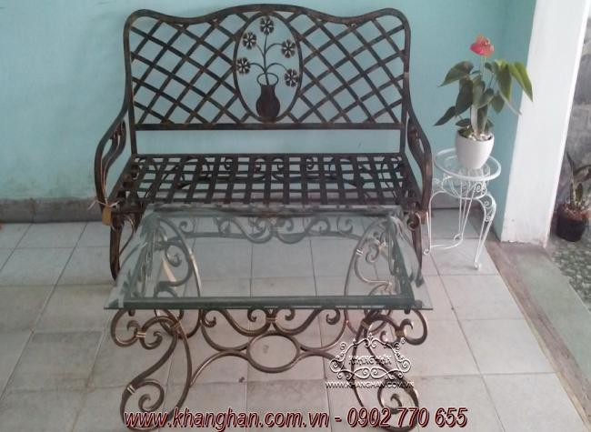 Sofa sắt rèn nghệ thuật Khang Hân