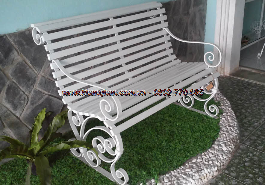 The long bench forged graceful art KH-GD064