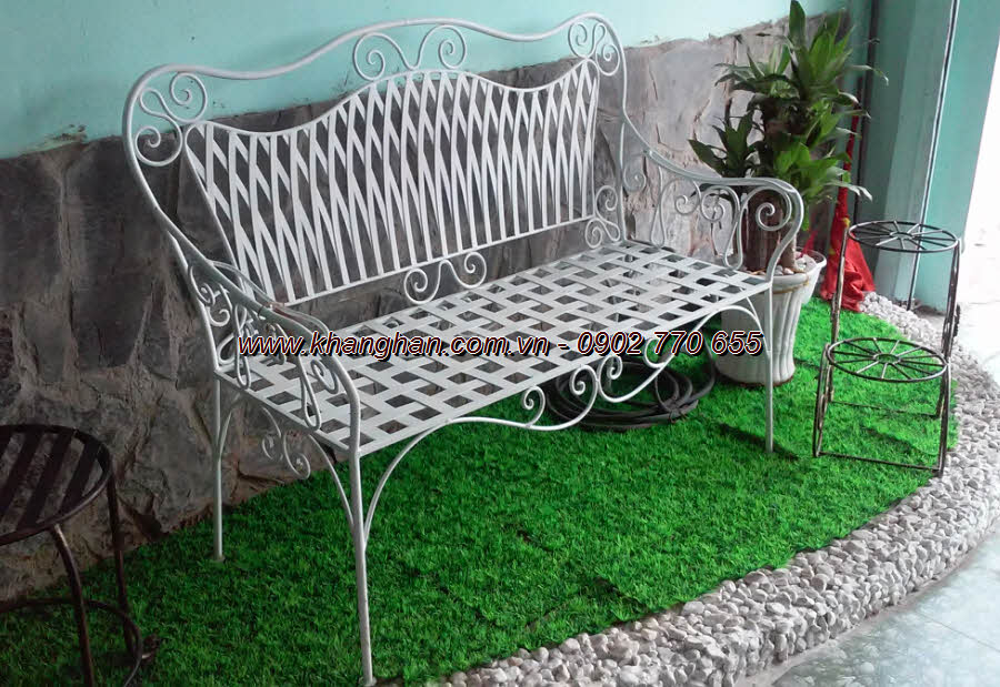 The long bench forged graceful art KH-GD079