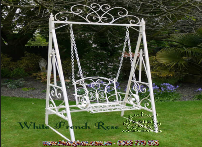 Wrought Iron Garden Swing Khang Han Art KH XD032