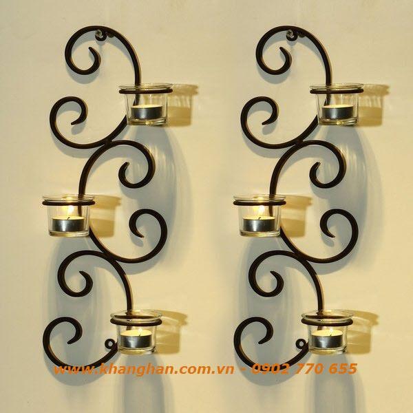 Wall shelves iron art candle
