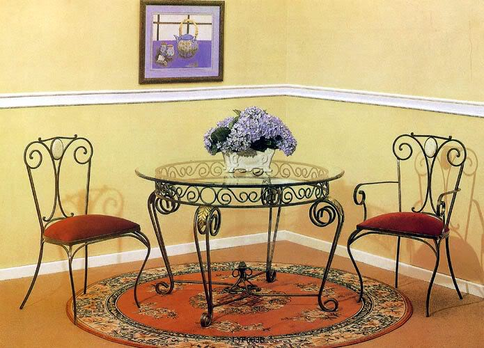 Iron art bring beauty to your home for Wrought iron living room furniture