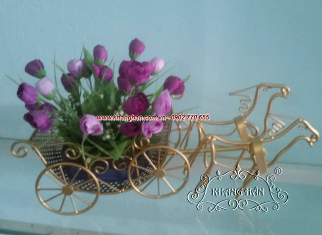 Bending iron horse-drawn floral art KH14-STT007
