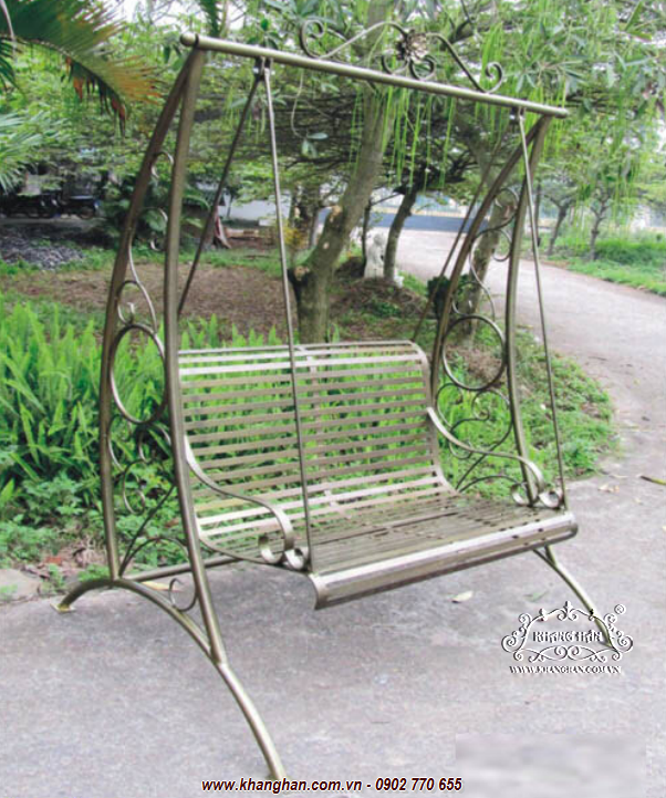 Artistic wrought iron swing suitable for garden KH15-XD005