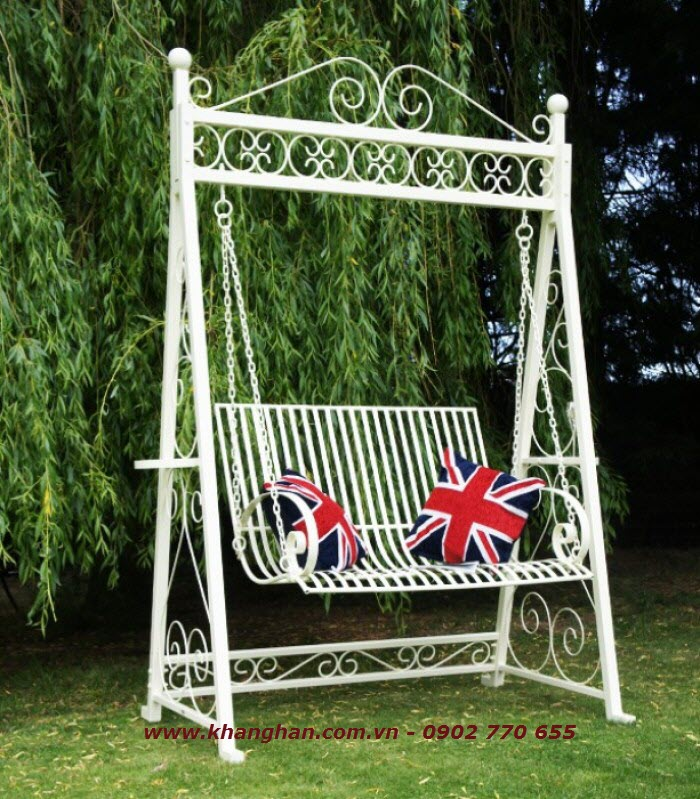 Artistic wrought iron swing KH14-XD006