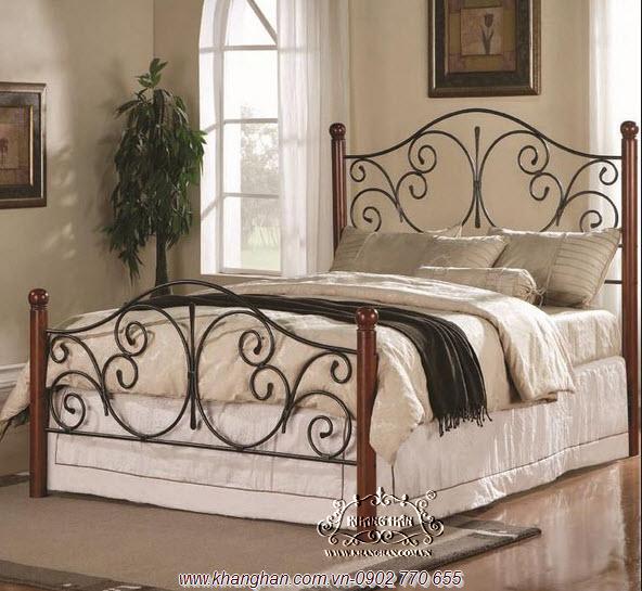 Giường ngủ sang trọng bằng sắt uốn mỹ thuật