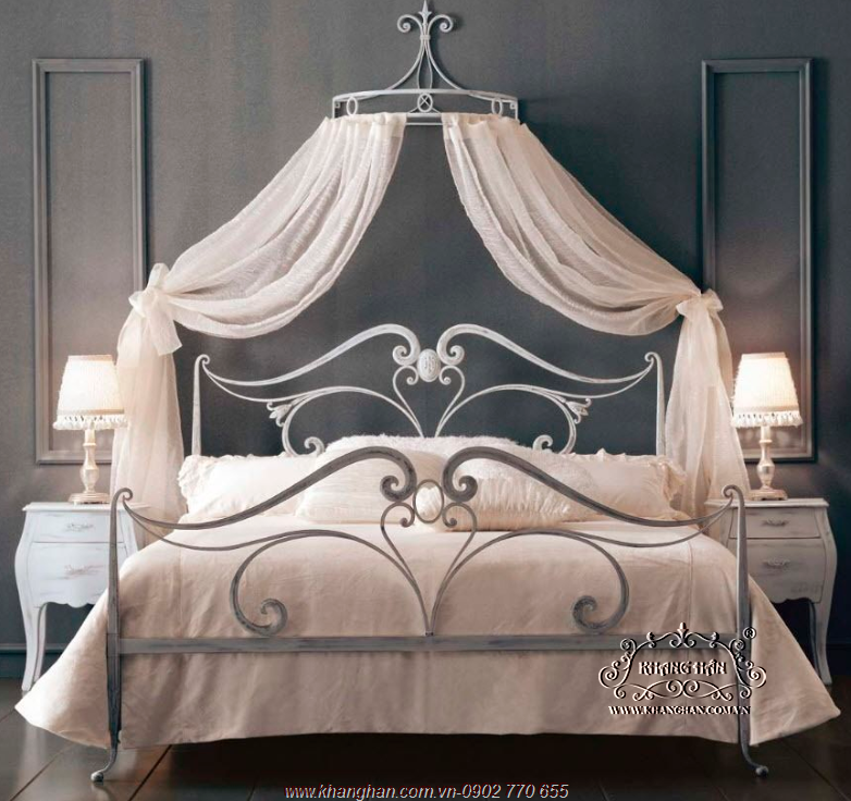 Giường ngủ sắt nghệ thuật đẹp