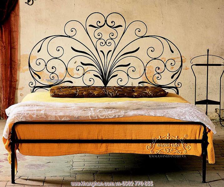 Giường ngủ sắt rèn mỹ thuật