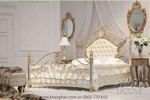 Giường sắt rèn nghệ thuật Khang Hân