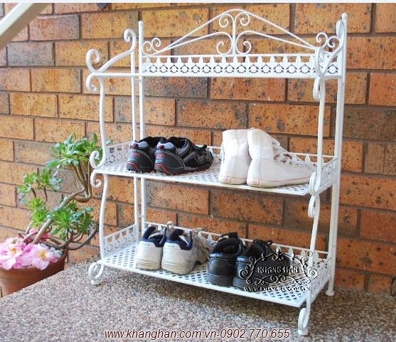 Kệ giày sắt rèn mỹ thuật