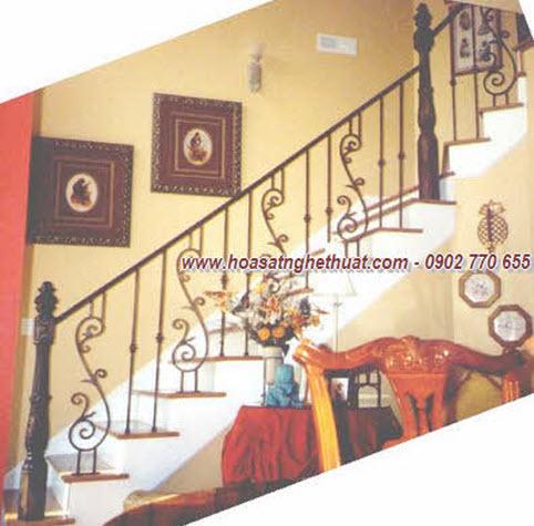 Lan can,cầu thang sắt nghệ thuật đẹp