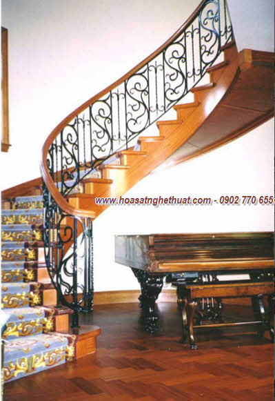 Lan can, cầu thang sắt rèn đẹp