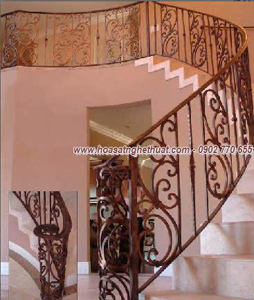 Lan can,cầu thang sắt rèn mỹ thuật