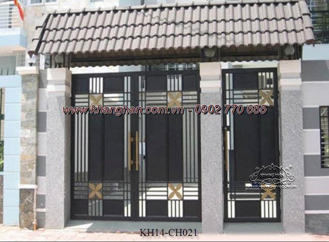Cổng sắt hộp nghệ thuật đẹp ấn tượng cho dãy nhà phố KH14-CSH021