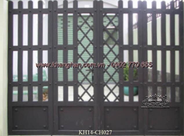 Cổng sắt hộp nghệ thuật KH14-CSH027