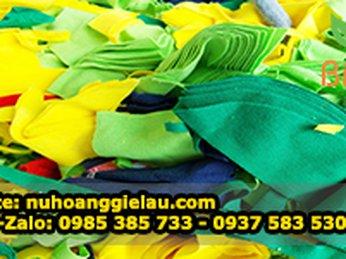 Vải phế liệu rẻ tái chế - Giẻ lau Thu Hồng