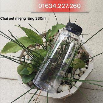 Chai nhựa pet miệng rộng 330ml