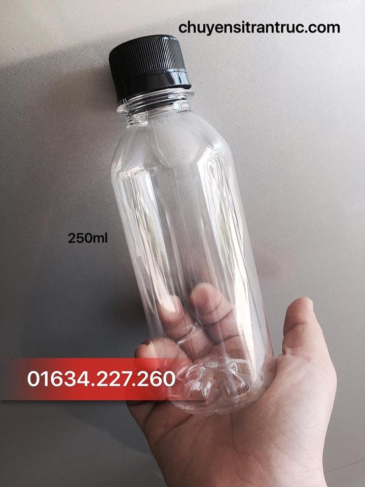 Chai nhựa tròn 250ml