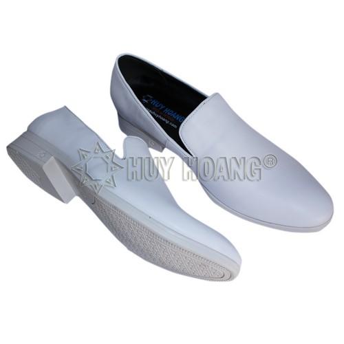 Giày tây trắng nam cao cấp - Giày da bò nam TPHCM chính hãng