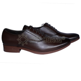 HH7508 - Giày tây nam Huy Hoàng cột dây màu nâu đất