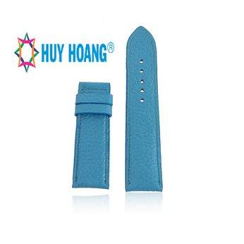 HH8139 - Dây đồng hồ da bò Huy Hoàng màu xanh da trời size lớn
